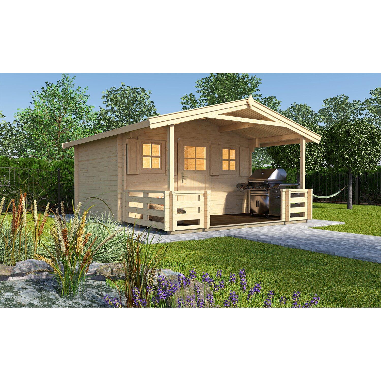 Weka Holz Gartenhaus 20 B Gr.20BxT 20 cm x 20 cm davon 200 cm Terrasse