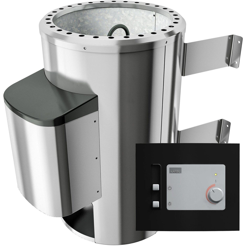 Woodfeeling Saunaofen 3,6 kW PnP (rund) mit ext. Strg. Modern, Steine 18 kg | Bad > Sauna & Zubehör > Saunaöfen | Woodfeeling