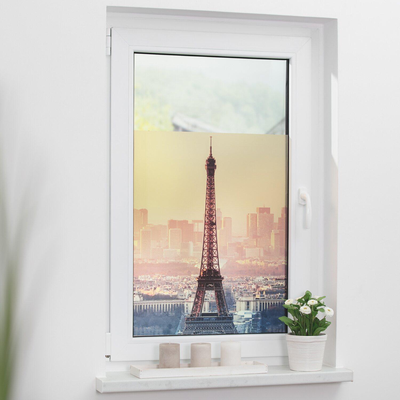 Lichtblick Fensterfolie Selbstklebend Mit Sichtschutz Eiffelturm