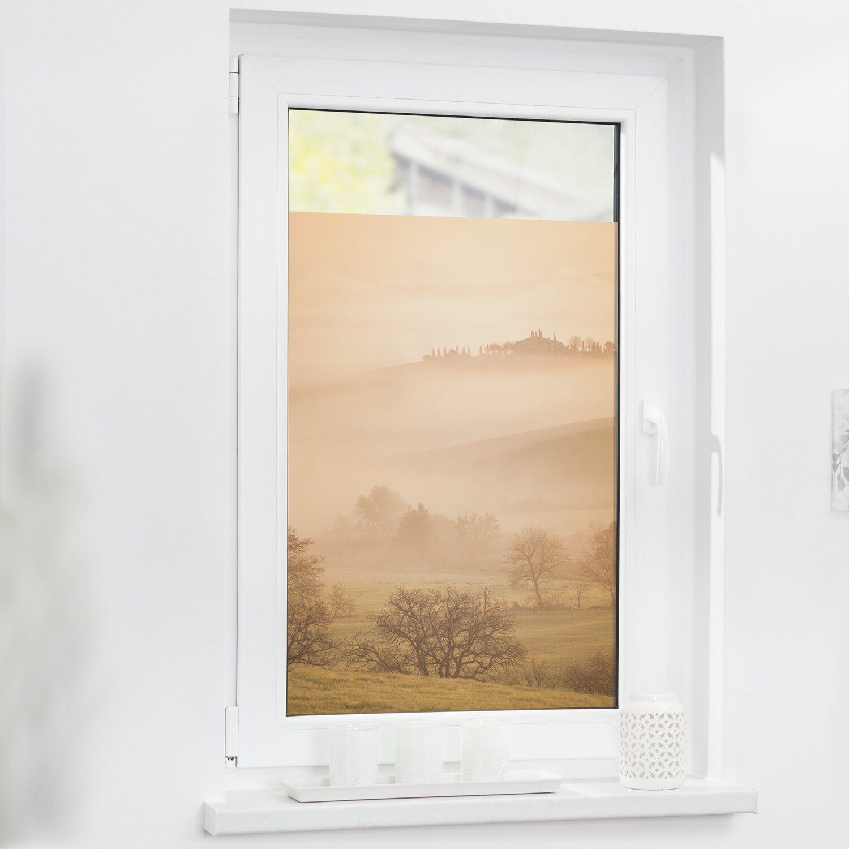 Lichtblick Fensterfolie Selbstklebend Mit Sichtschutz Toskana Orange Kaufen Bei Obi