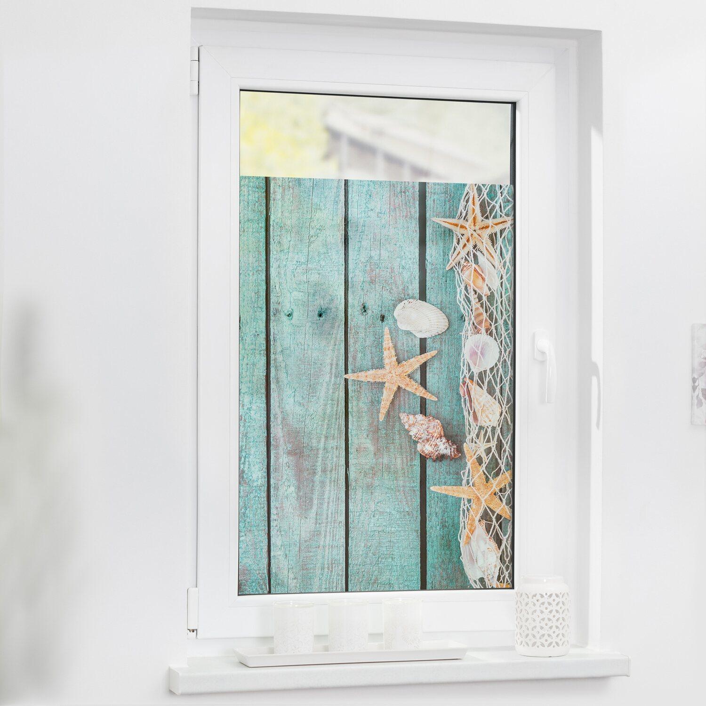 Lichtblick Fensterfolie Selbstklebend Mit Sichtschutz Bretter Beach Petrol Kaufen Bei Obi