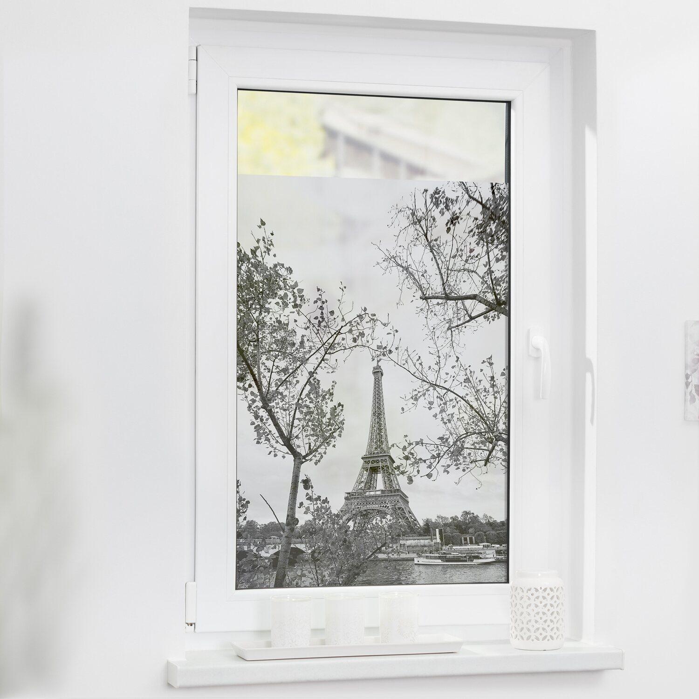 Lichtblick Fensterfolie Selbstklebend Mit Sichtschutz Paris Schwarz Weiss Kaufen Bei Obi