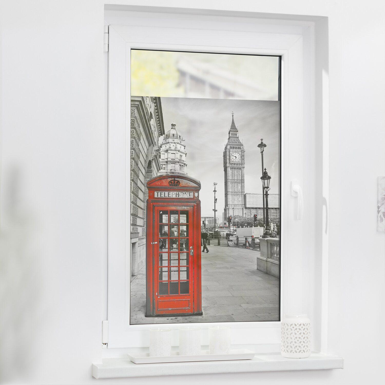 Lichtblick Fensterfolie Selbstklebend Mit Sichtschutz London Rot Kaufen Bei Obi