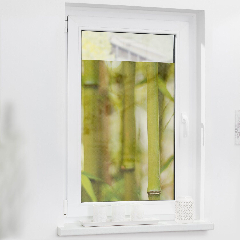 Lichtblick Fensterfolie Selbstklebend Mit Sichtschutz Bambus Grun