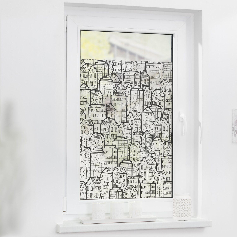 Lichtblick Fensterfolie Selbstklebend Mit Sichtschutz Stadt Schwarz Weiss Kaufen Bei Obi
