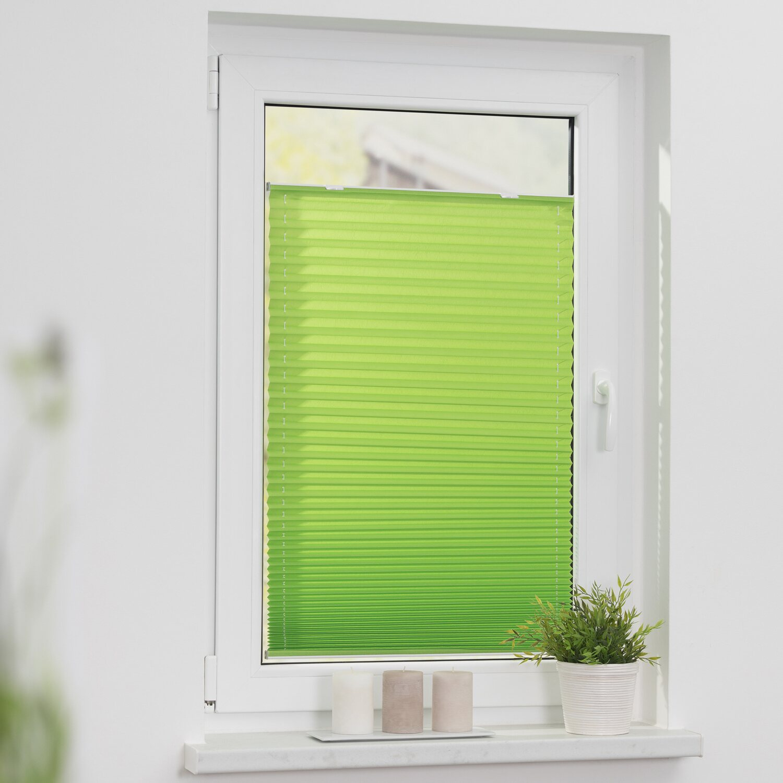 Lichtblick Plissee Haftfix ohne Bohren Grün 20 cm kaufen bei OBI