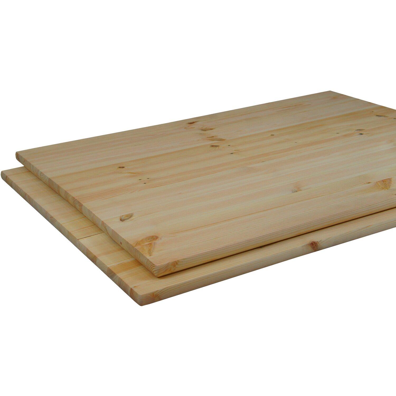 Massivholz Tischplatte Kiefer 200 cm x 200 cm x 20,20 cm