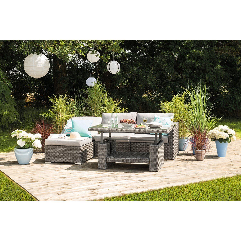 Greemotion Lounge-Set Bari 6-teilig Grau