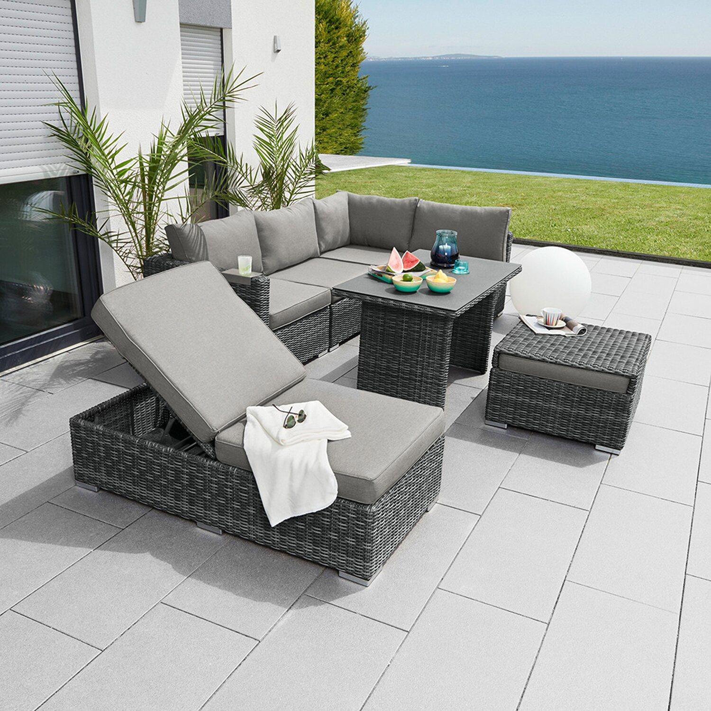Greemotion Lounge-Set Bari 8-teilig Grau