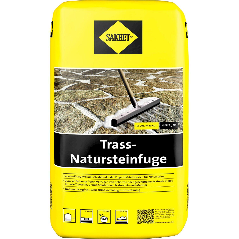 Sakret Trass-Natursteinfuge Grau 25 kg