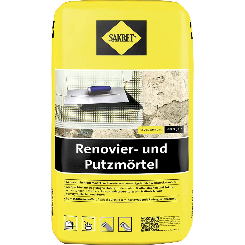 Sakret  Renovier-und Putzmörtel Weiß 10 kg