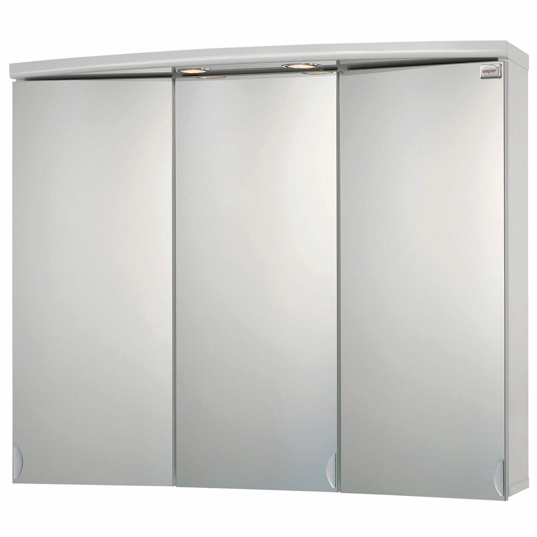 Sieper Spiegelschrank Ancona 83 cm Weiß EEK: C kaufen bei OBI