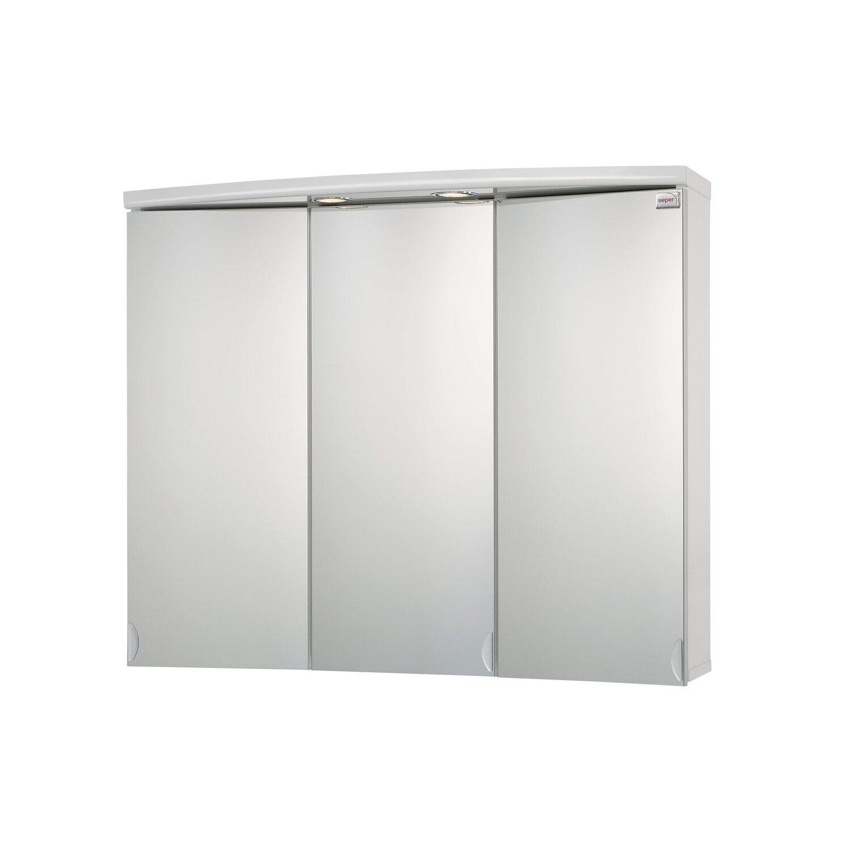 Sieper spiegelschrank eek c ancona 83 cm alu kaufen bei obi for Spiegelschrank obi