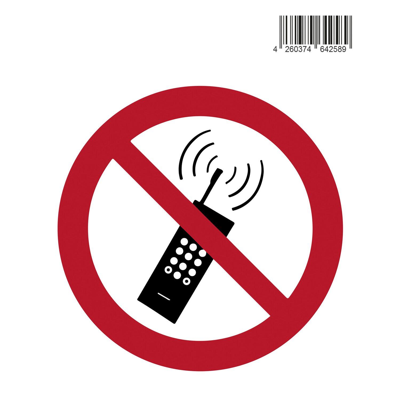 Aufkleber Symbol Handy verboten