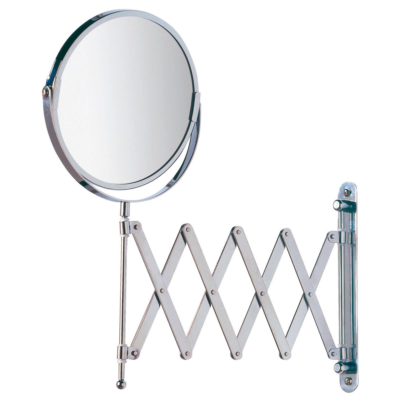 Wenko Kosmetik-Wandspiegel Teleskop Exclusiv Chrom glänzend | Bad > Bad-Accessoires > Kosmetikspiegel | Chrom | Glänzend - Glas | Wenko