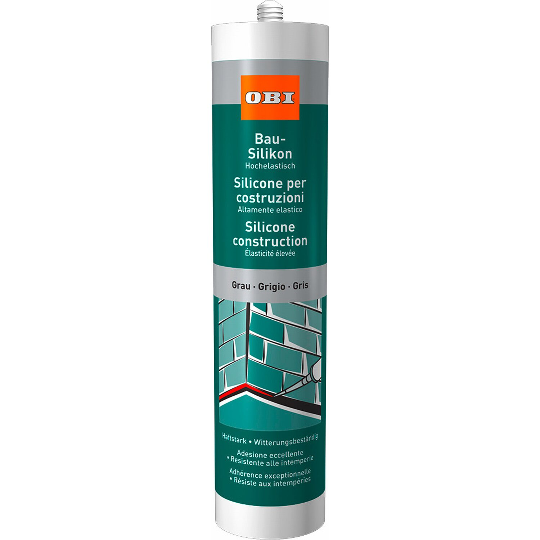 OBI  Bau-Silikon Grau 310 ml