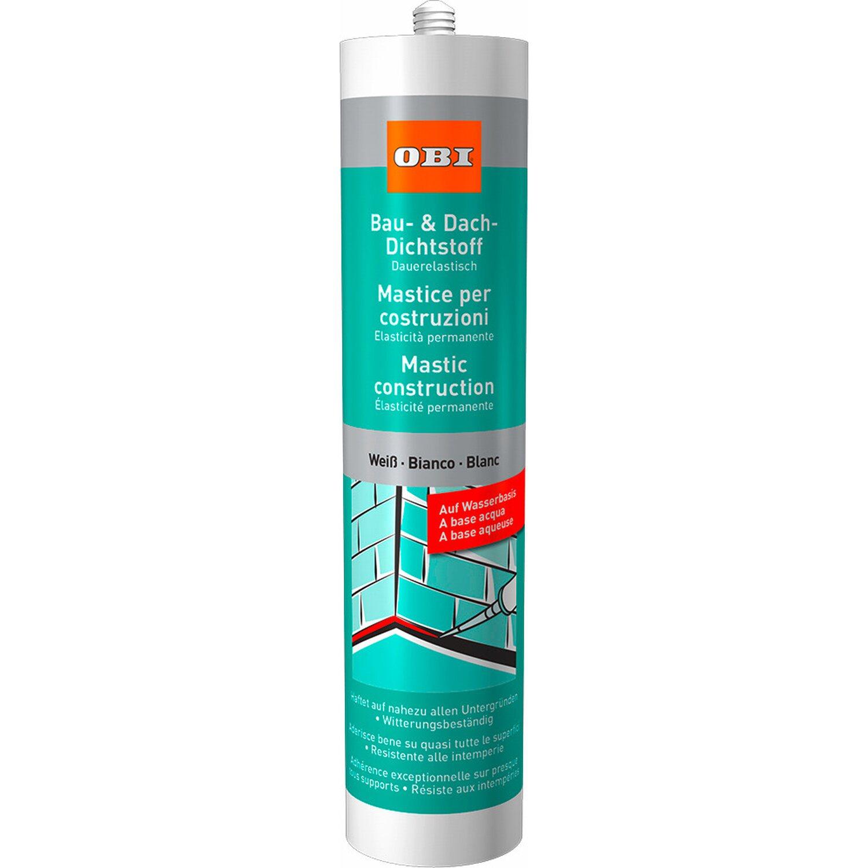 OBI  Bau- & Dach-Dichtstoff auf Wasserbasis Weiß 310 ml