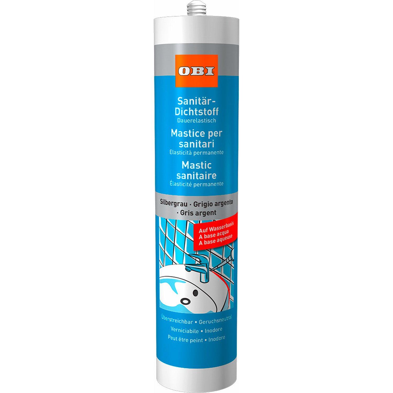 OBI  Sanitär Dichtstoff auf Wasserbasis Silbergrau 310 ml