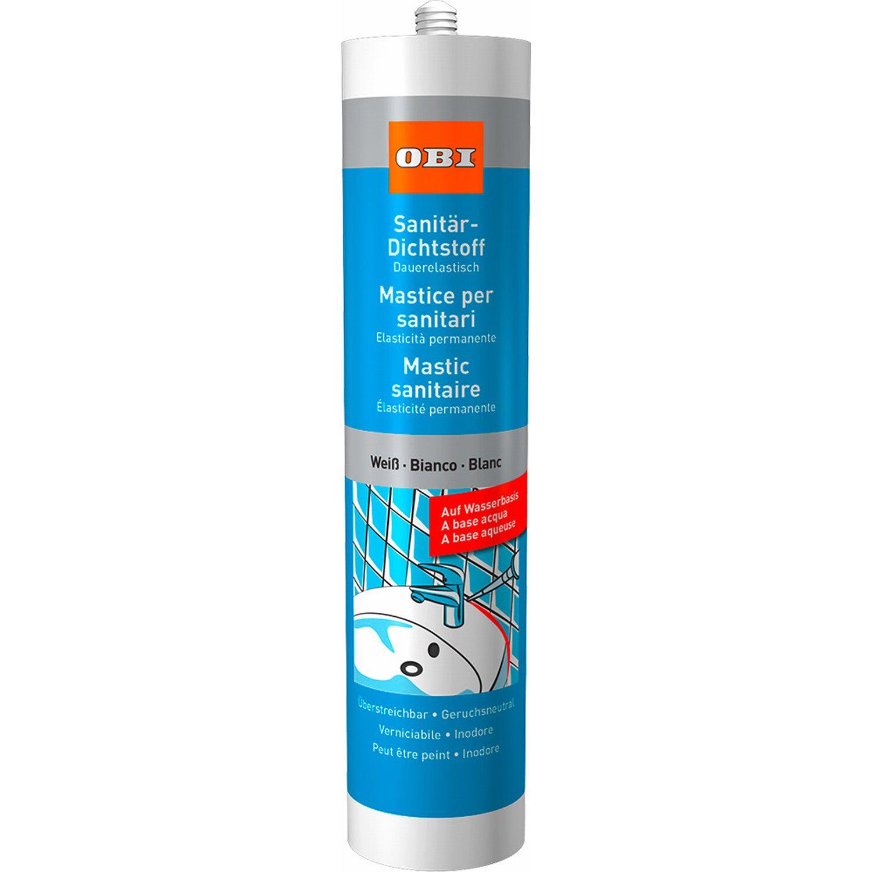 OBI  Sanitär Dichtstoff auf Wasserbasis Weiß 310 ml