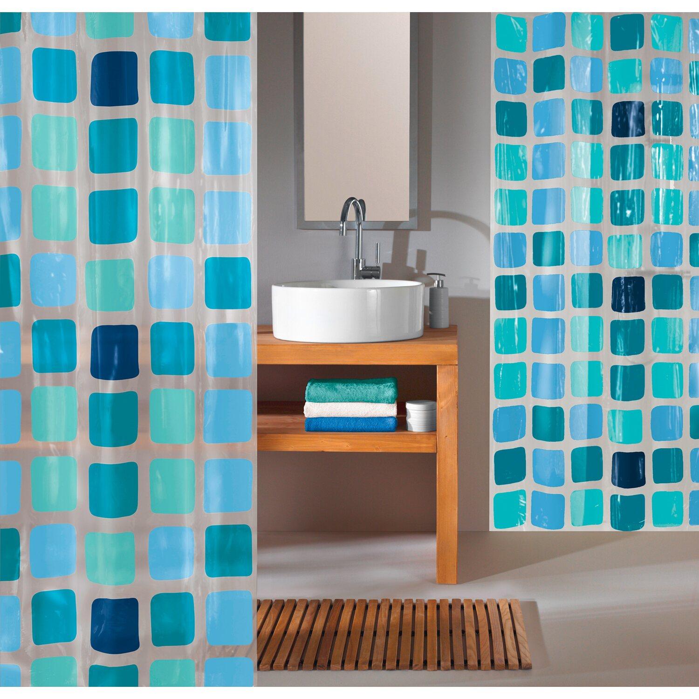 obi duschvorhang mary 180 cm x 200 cm blue kaufen bei obi. Black Bedroom Furniture Sets. Home Design Ideas