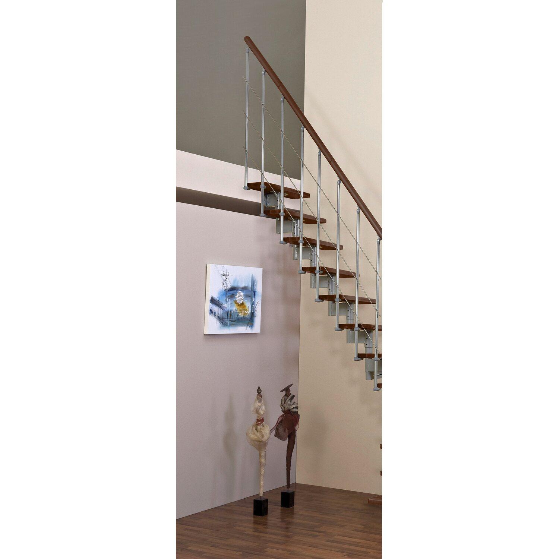 Minka Raumspartreppe Style gerade Walnuss Raumhöhe bis 304 cm   Baumarkt > Leitern und Treppen   Minka