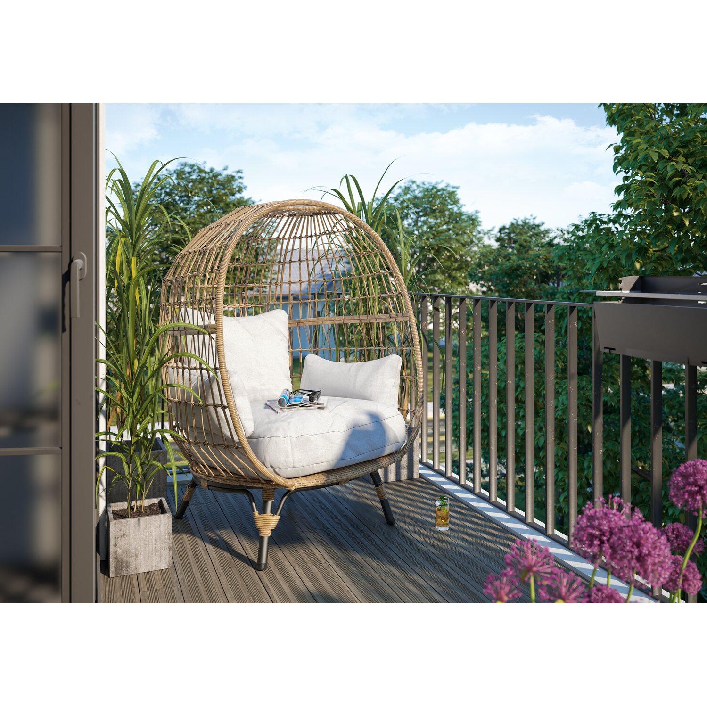 Lounge-Sessel Heckville Naturfarben 151 x 109,5 x 114,5 cm