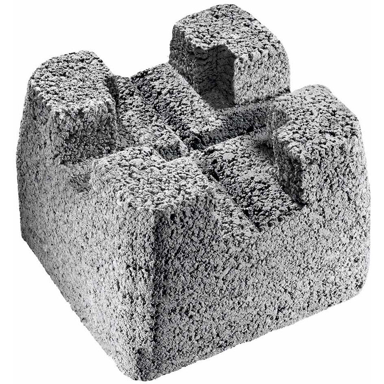 Diephaus Fundamentstein Grau 20 x 20 x 20 cm kaufen bei OBI