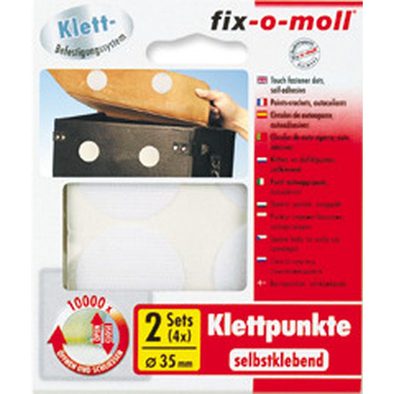 fix o moll fix-o-moll Klettpunkte selbstklebend 2 Sets 35 mm Weiß