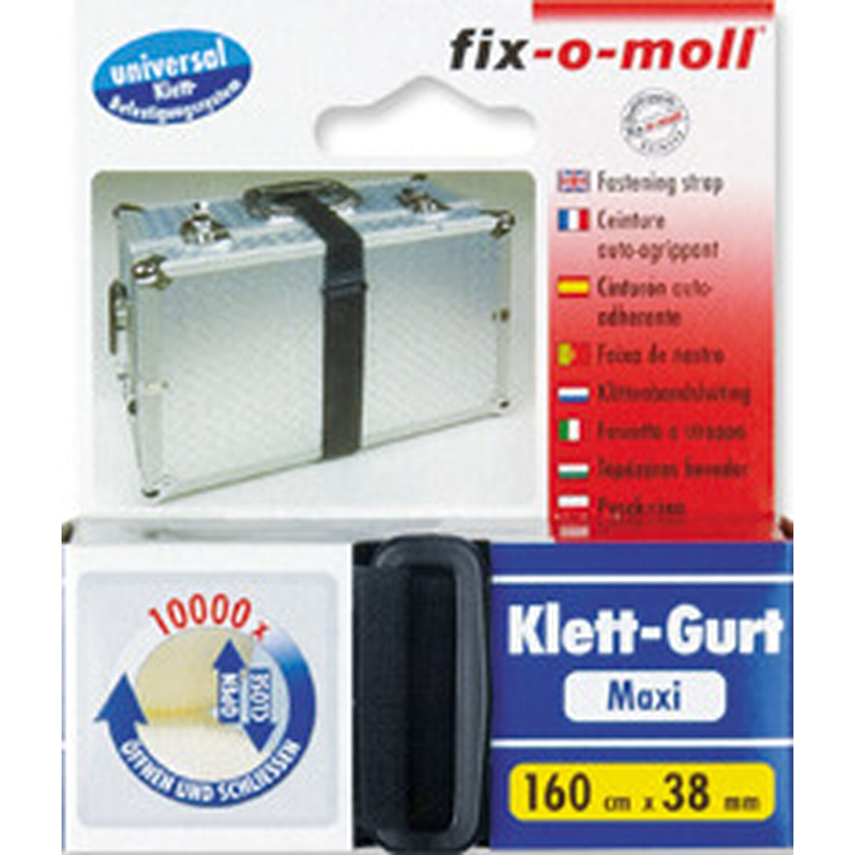 fix o moll fix-o-moll Klett-Gurt 160 cm x 38 mm Schwarz