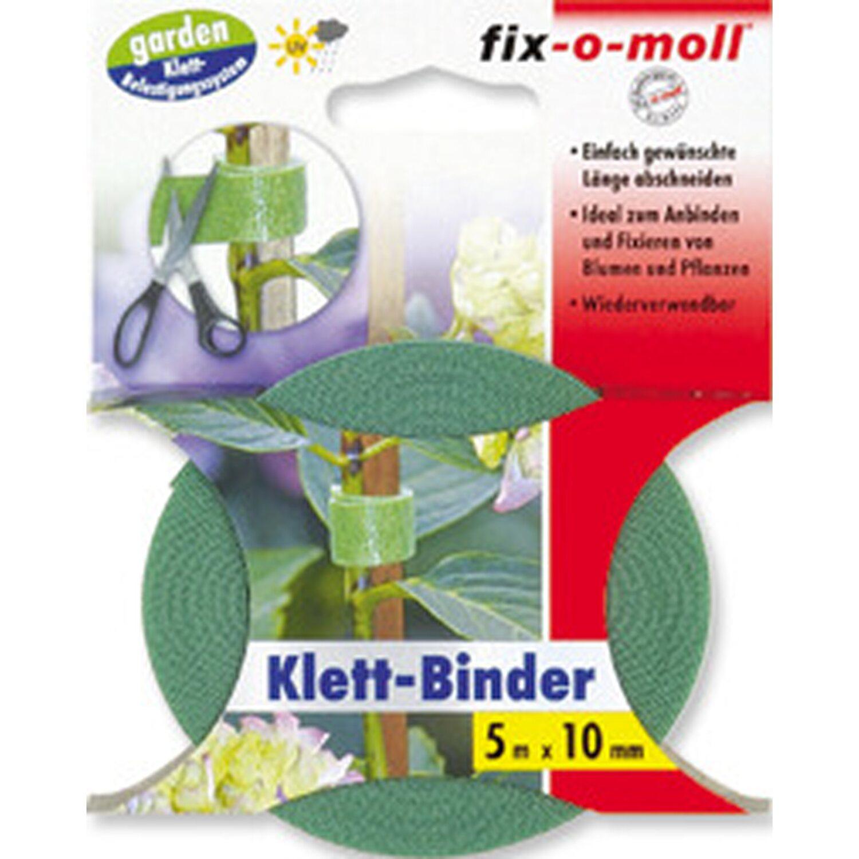 fix o moll fix-o-moll Klett-Binder Garden 5 m x 10 mm Grün