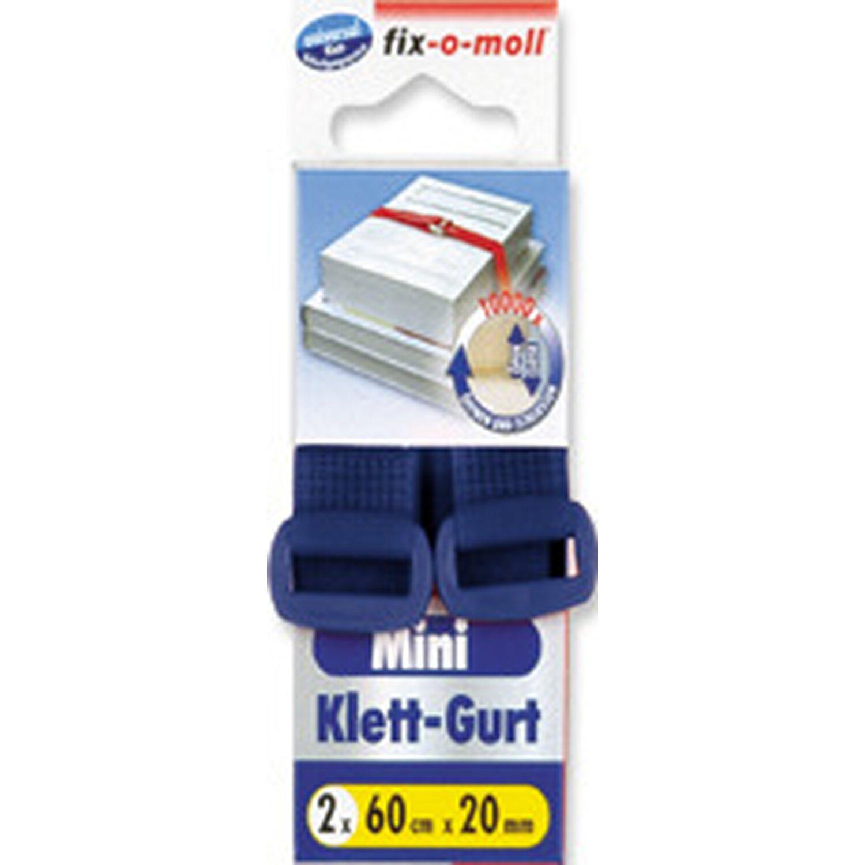 fix o moll fix-o-moll Klett-Gurt 2 Stück 60 cm x 20 mm Blau