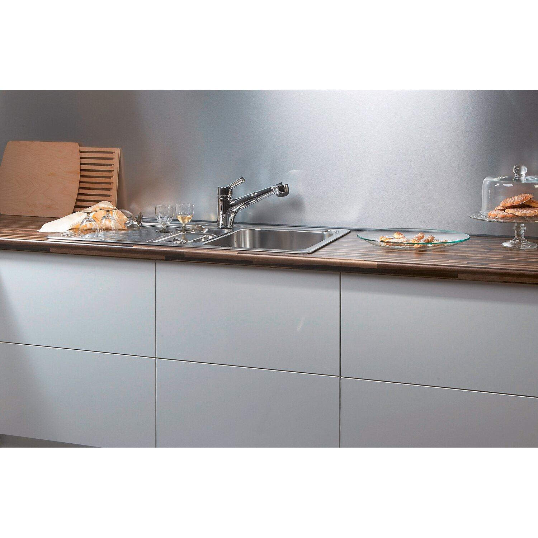Küchenrückwand 296 cm x 58,5 cm Aluminium (Alu 273)