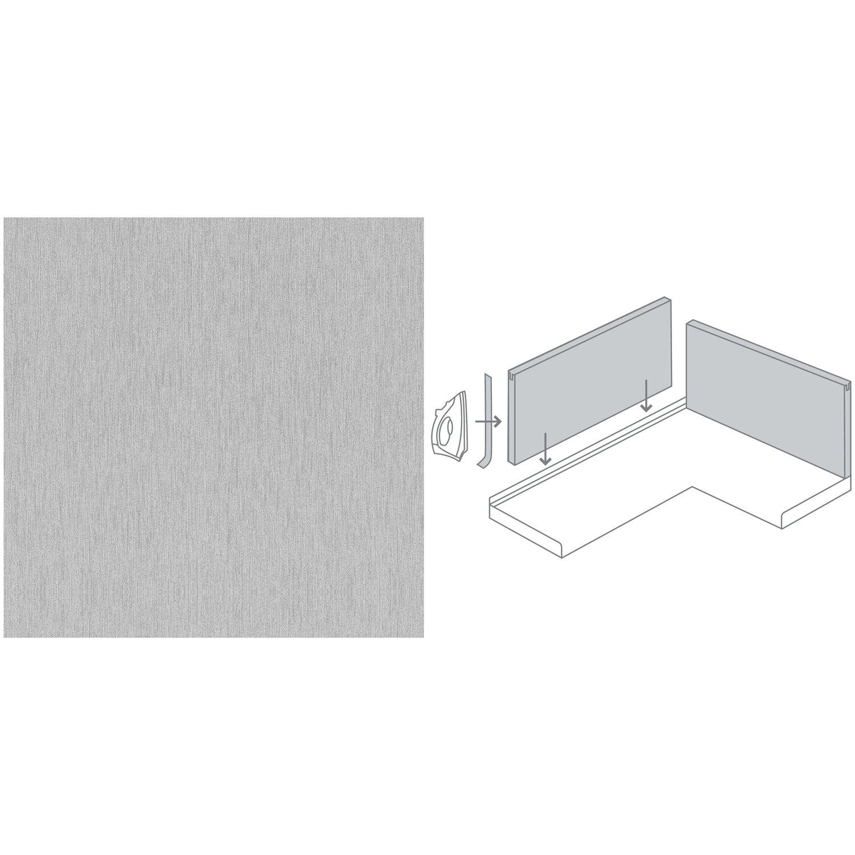 Küchenrückwand 296 cm x 58,5 cm Edelstahl (Alu 423)