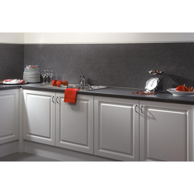 Küche rückwand  Küchenrückwand 296 cm x 58,5 cm Stein Schwarz-Blau Steindekor (ST ...