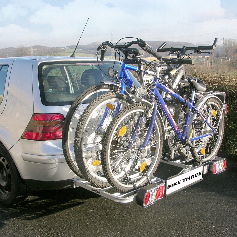 Eufab Fahrradheckträger Bike Three für Anhängekupplung für 3 Fahrräder