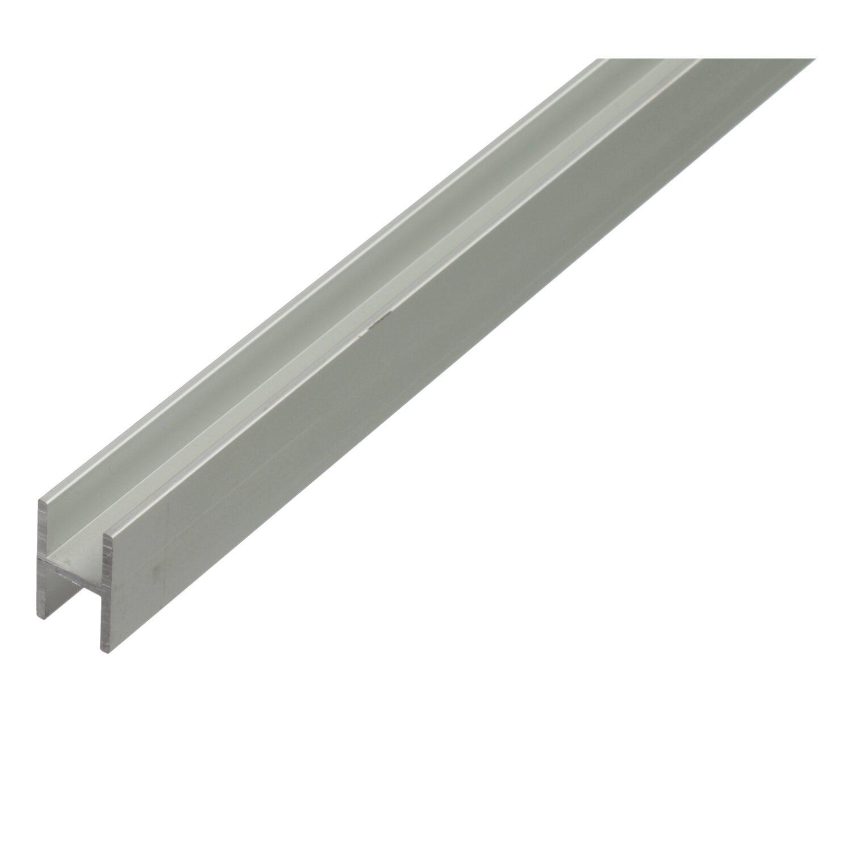H-Profil Silber eloxiert 22 mm x 13,5 mm x 1000 mm