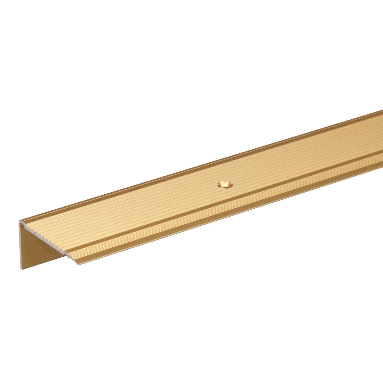 Treppenkanten-Schutzprofil Gold eloxiert 23 mm x 45 mm x 1000 mm | Baumarkt > Leitern und Treppen > Treppen