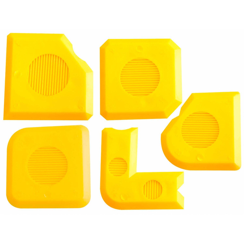 fugen ass fugengl tter set 5 teilig f r silikon und acryl. Black Bedroom Furniture Sets. Home Design Ideas