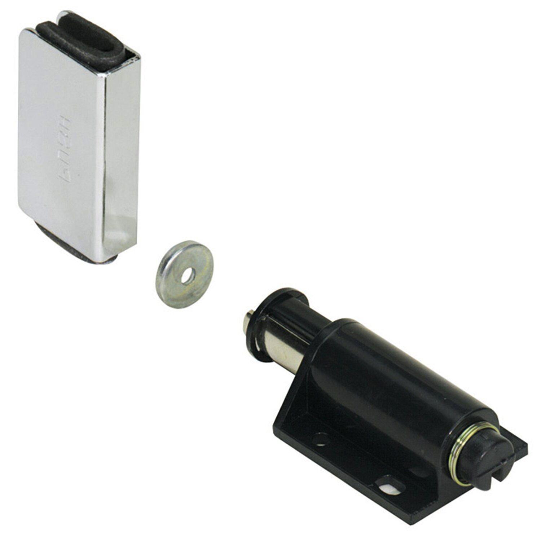 Druckmagnetschnapper Zum Aufschrauben Kunststoff Schwarz