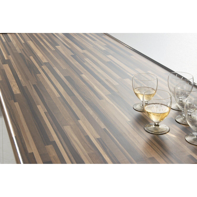 arbeitsplatte 60 cm x 3 9 cm listone butcherblock wenge nachbildung bbl739 pof kaufen bei obi. Black Bedroom Furniture Sets. Home Design Ideas
