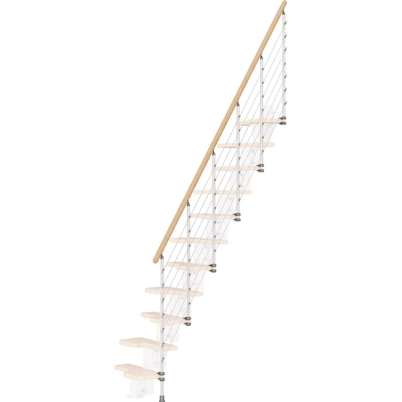 Fontanot Treppengeländer Kya Weiß mit hellem Handlauf