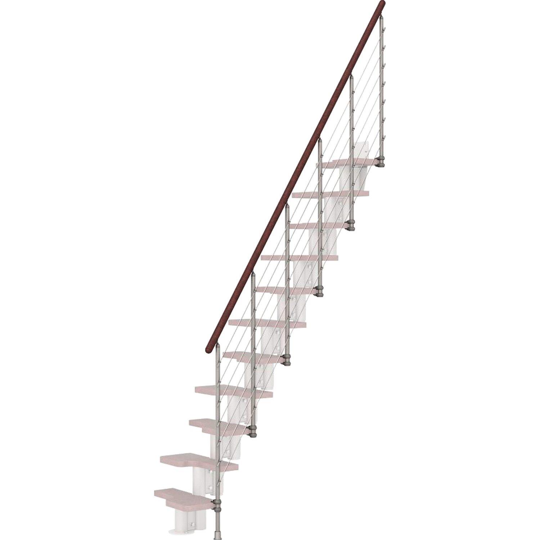 Fontanot Treppengeländer Kya Grau mit dunklem Handlauf
