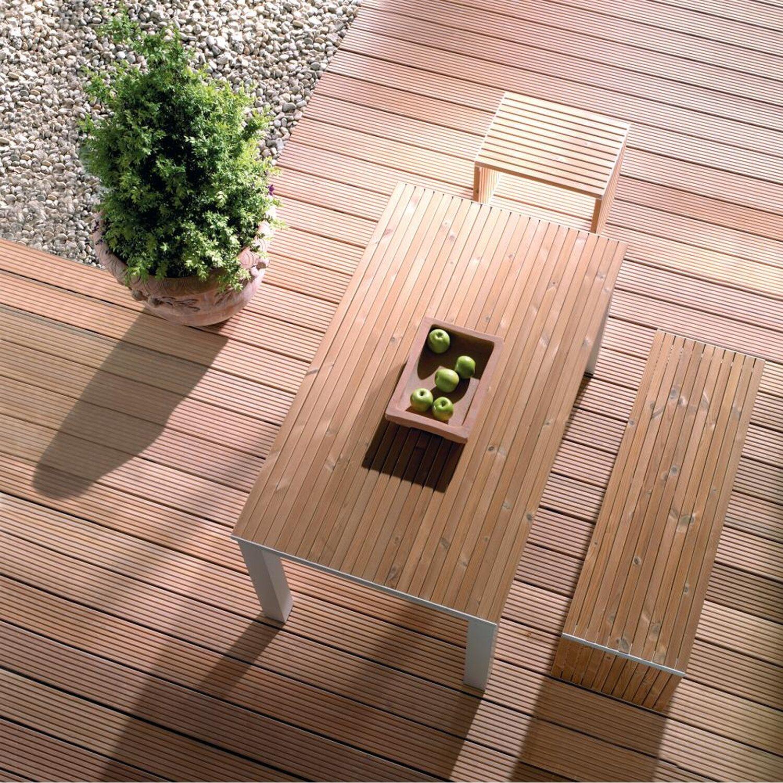 Bekannt Terrassendiele Bangkirai genutet 2,1 cm x 14,5 cm x 215 cm kaufen FU27