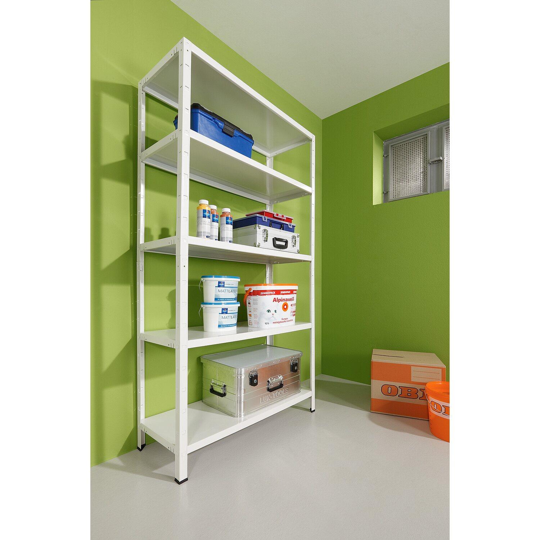 obi metall steckregal wei 195 x 100 x 40 cm kaufen bei obi. Black Bedroom Furniture Sets. Home Design Ideas