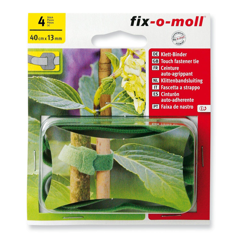 fix o moll fix-o-moll Klett-Binder Garden 4 Stück 40 cm x 13 mm Grün