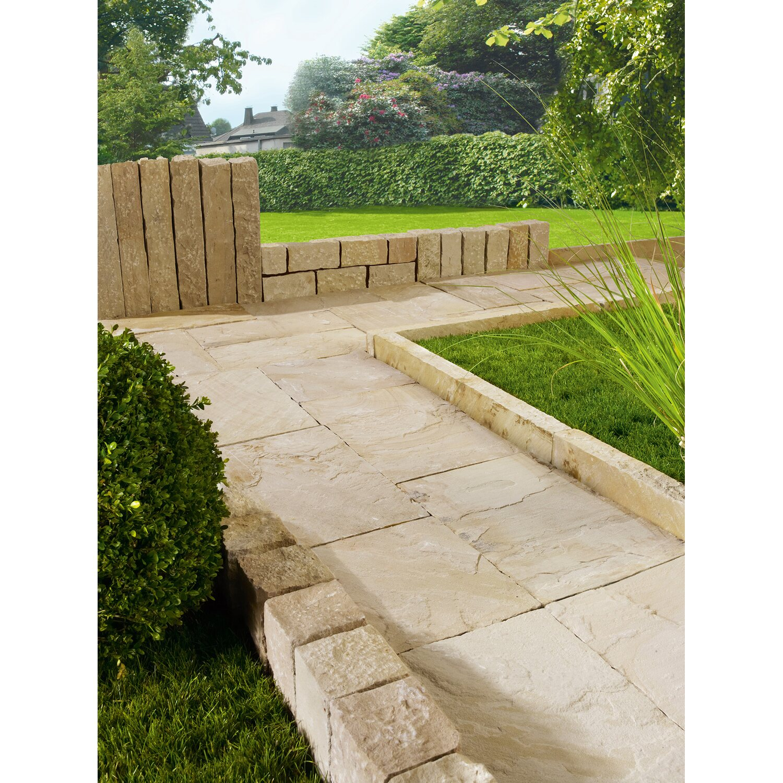Terrassenplatte sandstein gold braun 40 cm x 40 cm x 3 cm for Terrassenplatten heber obi