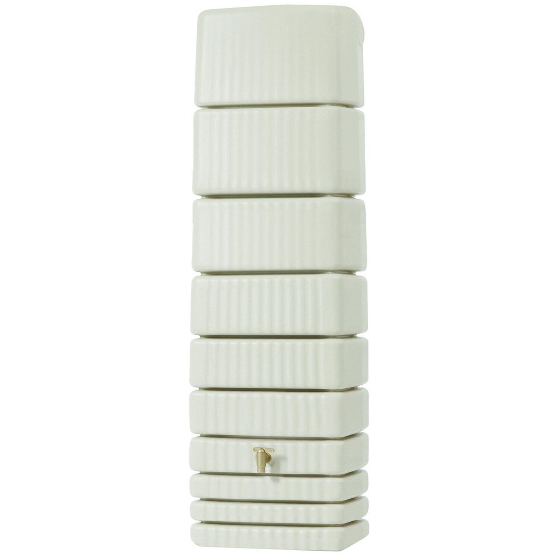 4rain  Regenwasser-Wandtank Slim 650 l Sandbeige