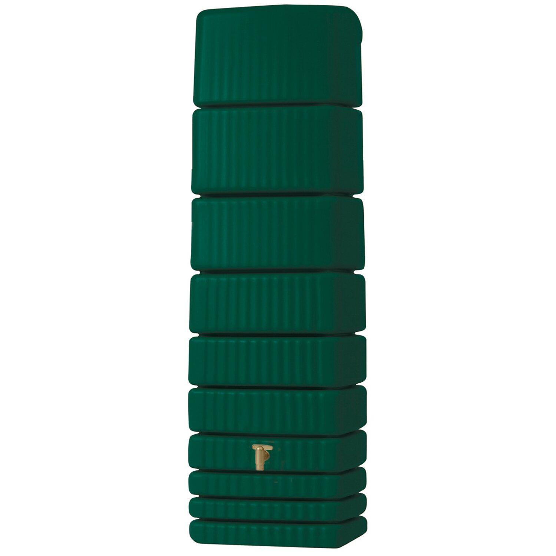 4rain  Regenwasser-Wandtank Slim 650 l Grün