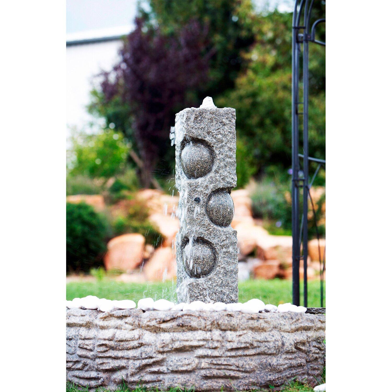 heissner gartenbrunnen pistacho mit led aus granit kaufen. Black Bedroom Furniture Sets. Home Design Ideas