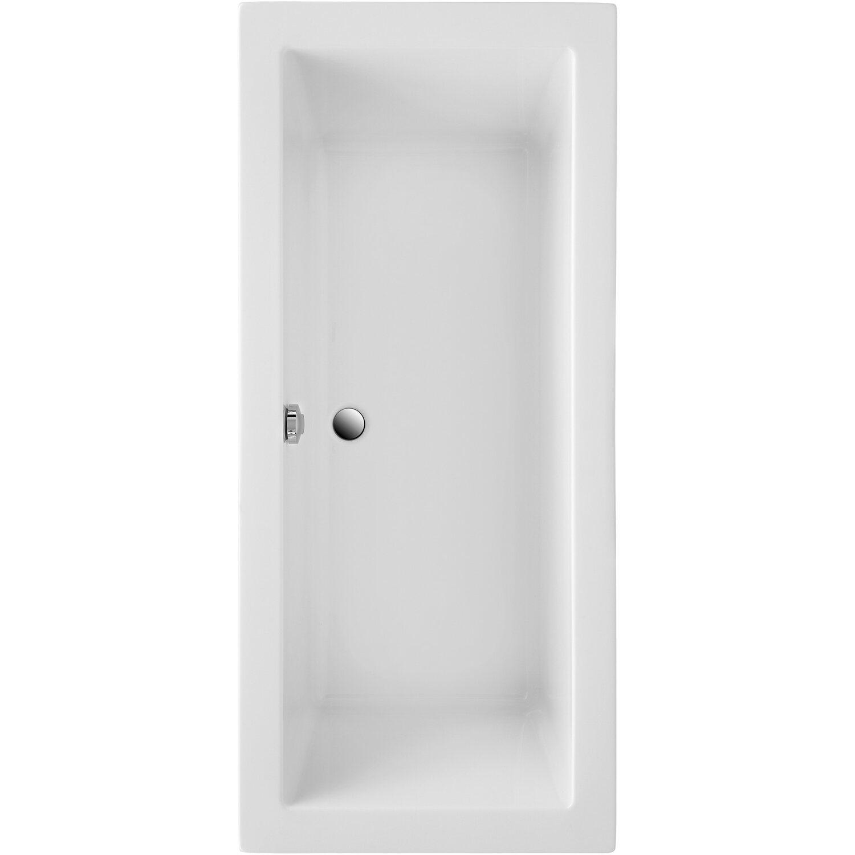 Ottofond Körperform-Badewanne Cubic 180 cm Weiß